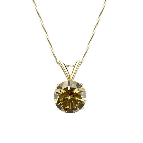 0.25 Carat champagner Diamond 14K yellow gold Pendant