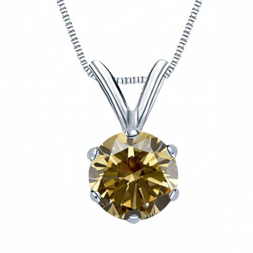 0.25 Carat Solitaire Diamants Pendentif Or blanc 14K
