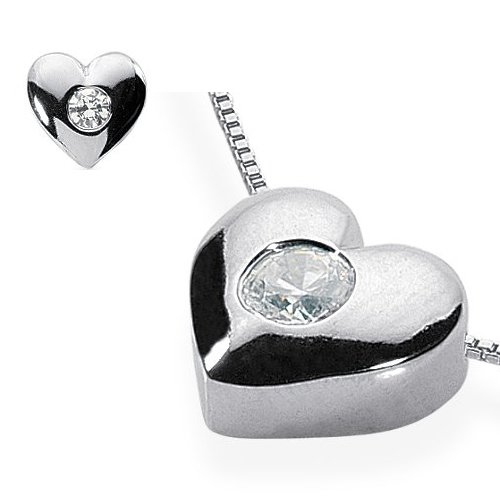 0.40 Carat Diamond Pendant solid 14K white gold