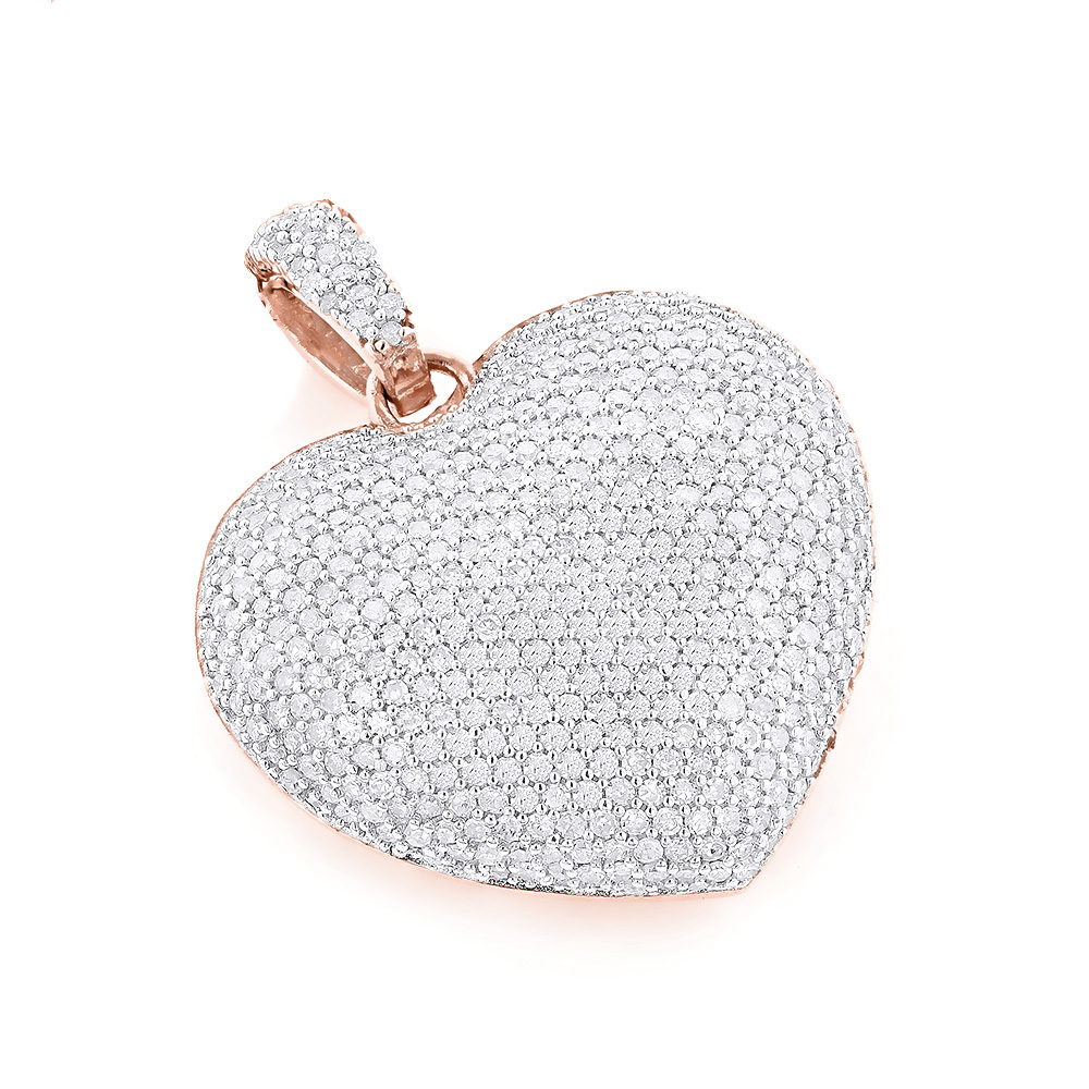 2.00 Carat Diamond Fancy Heart Pendant 14K white gold