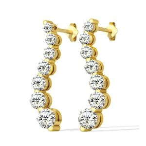 Pendientes de diamante 1.00 Quilates - 14K Oro amarillo