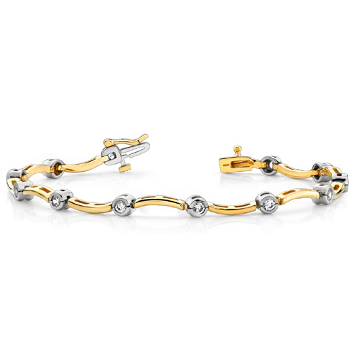 Brillant Armband in 585er/750er BI-Color Gold (1.00 Karat)