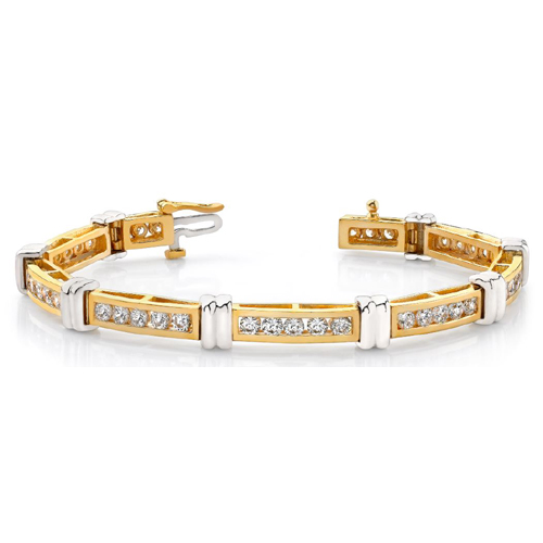 Brillantarmband aus 585er/750er BI-Color Gold (1.50 Karat)