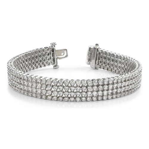 Diamond bracelet 7.00 Carat in 14K yellow or white gold