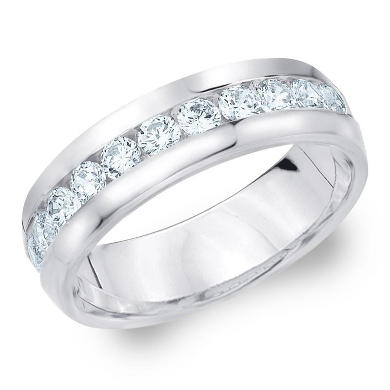 1.00 CT ROUND WHITE DIAMOND MEN'S RING