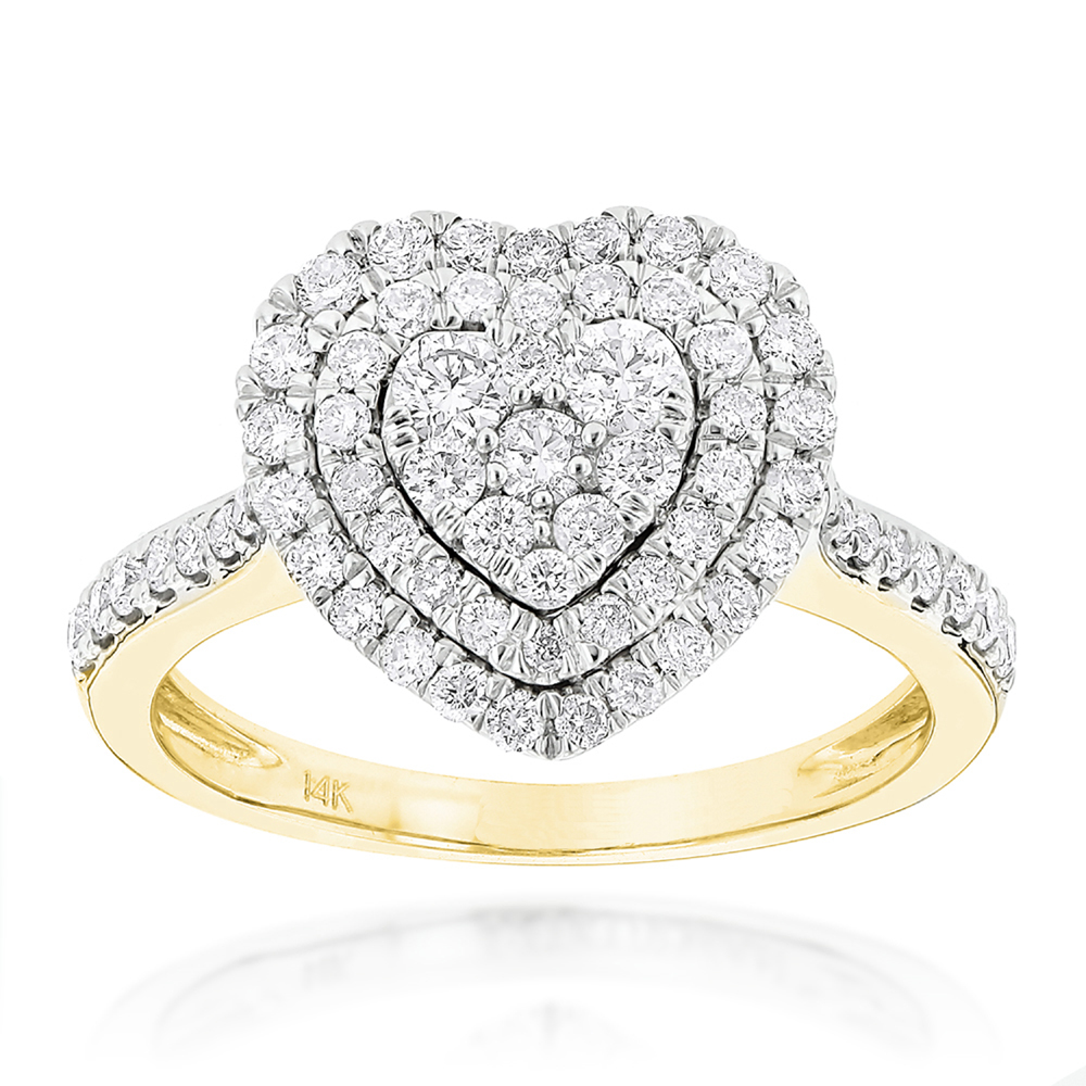 Diamond ring Pave with 1.00 Carat Diamonds in 14K gold