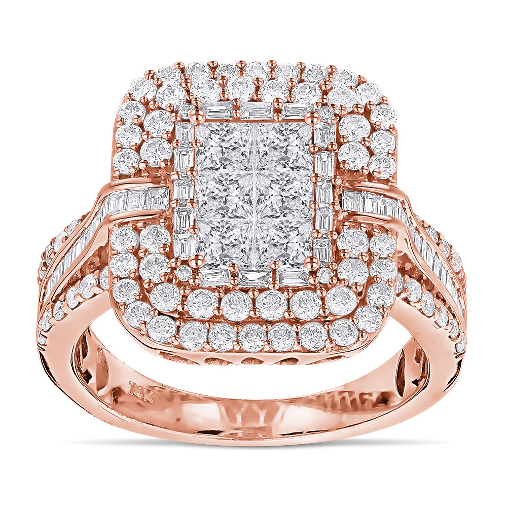 Diamantring in 585er Rosegold