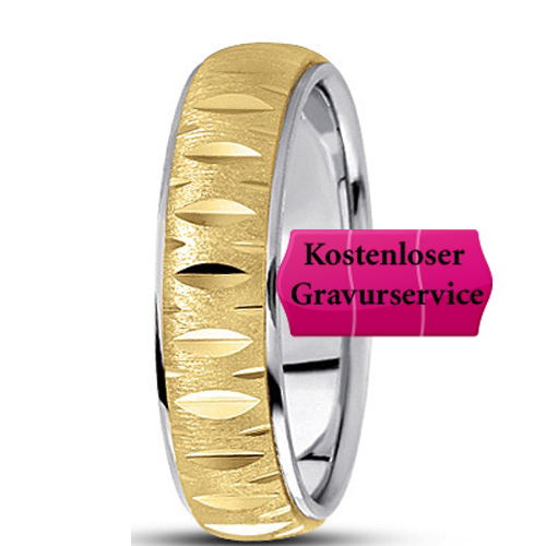 14K Gold two tone Wedding Band No. 342