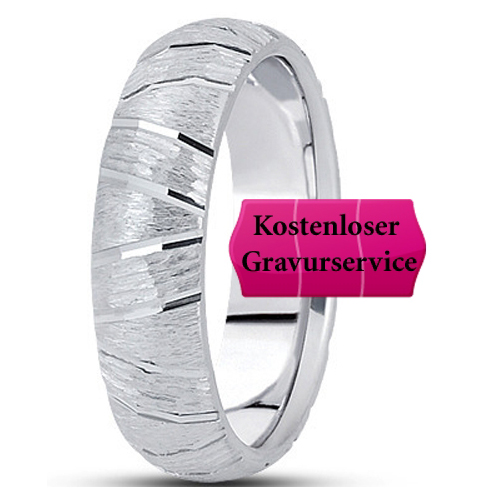 14K white gold Wedding Band Ring No. 398