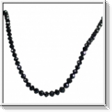 70.00 CTS. Noir Diamants Collier Or Blanc 14K