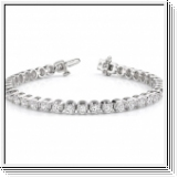 Bracelet avec Diamants - 2.00 Carat - Or Blanc 14 Carats