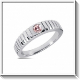 0.25 Carat Grand Rose Diamant Bague 14K Or blanc