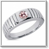 0.50 Carat Grand Rose Diamant Bague 14K Or blanc