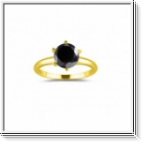 1.00 CT BLACK DIAMOND ENGAGEMENT RING 14K GOLD
