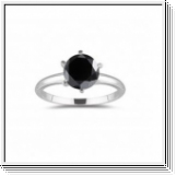 1.50 CT BLACK DIAMOND ENGAGEMENT RING 14K GOLD