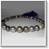 Multicolor Tahitian pearl necklace 10.00 to 14.00mm