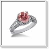 BAGUE 1.58 Ct. ROSE ET BLANC NATUREL DIAMANTS 14K Or