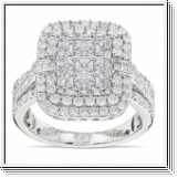BAGUE OR GRIS 14K AVEC 2.40 CT. BLANC NATUREL DIAMANTS