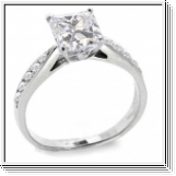 1.23 Carat white Diamond ring 14K white gold F/VS