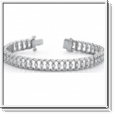 6.00 Ctw. Diamond bracelet 14K white gold  (SI1)