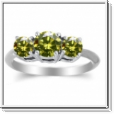 2.00 Ct. Jaune Diamant Bague de Or 14K