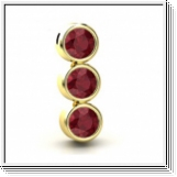 7.20 carats Ruby Pendant - 14K Yellow Gold