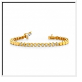 Bracelet Rivière Diamants 1.10 Carat - Or Jaune 14 Carats