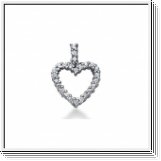0.40 Carat Diamond Heart Pendant 14K white gold