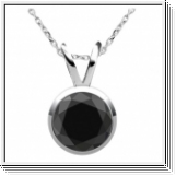 1.00 Carat black Diamond 14K/18K gold Pendant