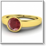 2.10 CT. BAGUE OR BLANC, JAUNE OR ROSE 14K AVEC RUBIS NATUREL