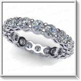 2.00 Ct. Mémoire Blanc Diamants Bague de Or 14K  SI1/H