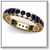 Sapphire Ring Eternity - 3.10 carats - 14K yellow gold