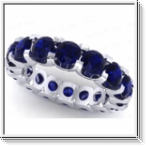 Sapphire Ring Eternity - 3.15 carats - 18K white gold