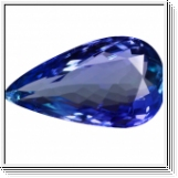Tanzanite pear in Super Fine Grade with 3.86 carat