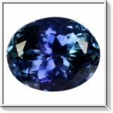 Tanzanite oval in Super Fine Grade with 5.31 carat