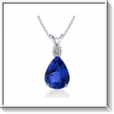 Tanzanite y diamante colgante 1,05 quilates y oro blanco de 18K