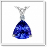 Tanzanite y diamante colgante 1.05 quilates y oro blanco de 18K