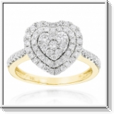 BAGUE OR GRIS 14K AVEC 1.00 CT. BLANC NATUREL DIAMANTS
