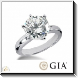 0.50 CT. DIAMOND RING 14K GOLD + GIA CERTIFICATE