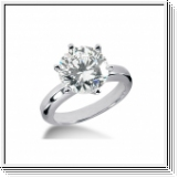 ROUND DIAMOND ENGAGEMENT RING 0.50 CT 14K GOLD