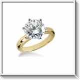 ROUND DIAMOND ENGAGEMENT RING 0.75 CT 14K GOLD