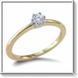 ROUND DIAMOND ENGAGEMENT RING 0.10 CT 14K GOLD