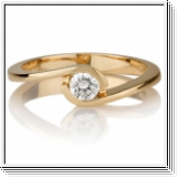 Diamond Ring 0.25 Ct. Diamond 18K Yellow Gold