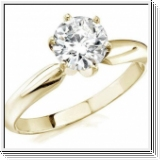 ROUND DIAMOND ENGAGEMENT RING 0.50 CT 18K GOLD