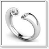Diamond ring Atlanta 0.40 carat 14K or 18K white gold