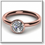 Diamond Ring 0.25 Ct. Diamond 18K Rose Gold
