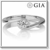 0.50 CT. G-H/I1 DIAMOND RING 18K GOLD + GIA CERTIFICATE