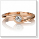 Diamond Ring 0.50 Ct. Diamond 14K or 18K Rose Gold