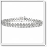 Bracelet Diamants - 2.00 Carat Diamants - Or Blanc 14K