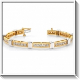 4.00 Karat Brillant Armband in 585er/750er BI-Color Gold